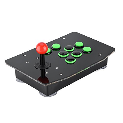 Riuty Arcade Stick, Game Console USB Arcade Stick No Delay Controller with Newest Design Buttons for PC Computer Games