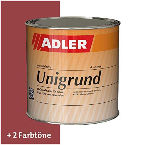 ADLER Unigrund LM - 375 ml Rotbraun - Grundierung/Haftgrundierung für Eisen Stahl Zink Alu