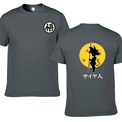 Mens T-Shirt Summer Casual Men Short Sleeve Shirt Cotton Male T-Shirts Top Tees Men Cloth-F159Mt_Deep_Grey_XXL
