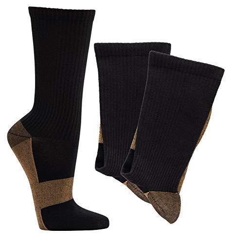 TippTexx 24 Neuheit, 2 Paar Kupfer Wellness-Kompressions-Kniestrümpfe oder Kupfer Wellness-Funktionssocken (Kupfer Socken, 43/46)