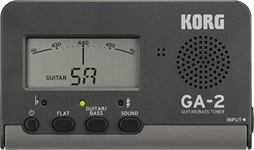 KORGギター/ベース用チューナーGA-2個人練習に最適多弦ギター多弦ベースフラットチューニングロングスケールにも対応200時間連続稼働軽量コンパクト