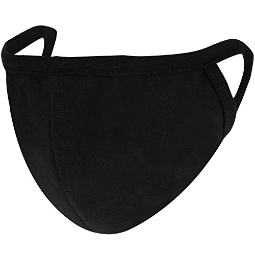 4 Pack Cotton Mouth Face Masks Mouth Cover for Men and Women (Black)