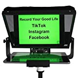 Teleprompters for Smart Phones and Tablets, Making Video Programs, Live Streaming,Professional Tool to Prompt The Blogger's Lines, Equipped with Custom Suitcase