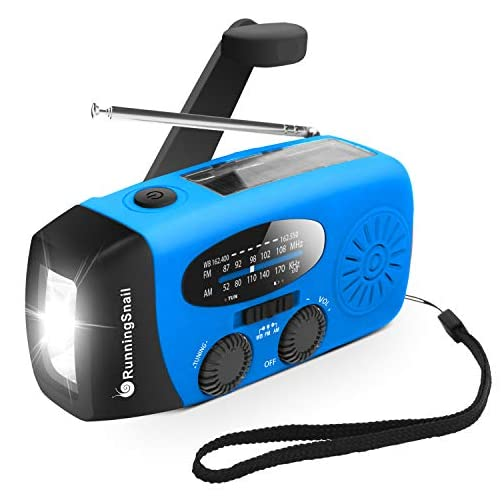 Upgraded Version RunningSnail Emergency Hand Crank Self Powered AM/FM NOAA Solar Weather Radio with LED Flashlight… 3