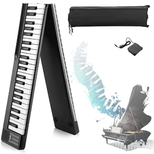 Piano Elettrico Pieghevole A 88 Tasti ,ETE ETMATE Con Bluetooth, MIDI, pedale sostenuto, app intelligente con esercitazione, 128 tipi di voce di pianoforte elettronico.