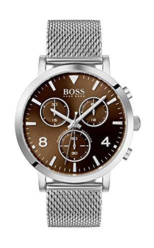 Hugo Boss Herren Chronograph Quarz Uhr mit Edelstahl Armband 1513694