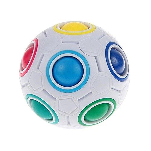 PAMRAY Magic Rainbow Ball Inteligencia Speed Juguetes Anti Estrés Cubo para Niños Adultos