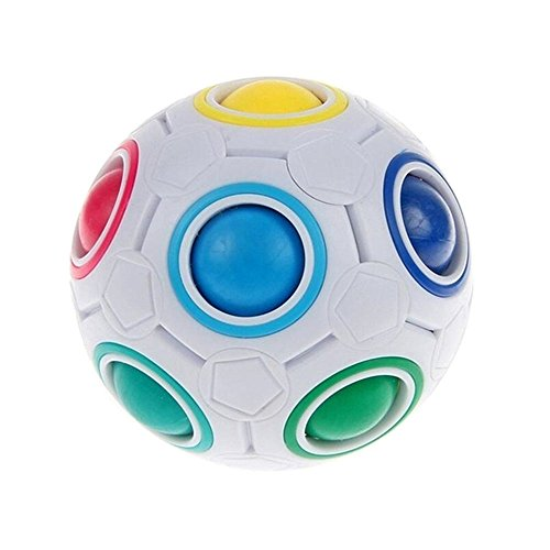 PAMRAY Magic Rainbow Ball Inteligencia Speed Juguetes Anti Estrés Cubo para Niños Adultos