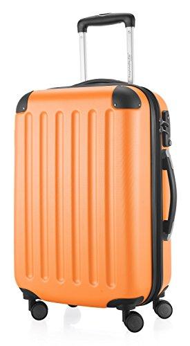 Hauptstadtkoffer - Spree - Handgepäck Hartschalen-Koffer Trolley Rollkoffer Reisekoffer Erweiterbar, TSA, 4 Rollen, 55 cm, 42 Liter, Orange