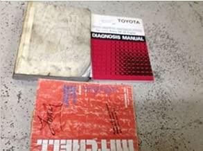 1987 Toyota Supra Service Shop Repair Manual Set W Diagnosis & Mitchells Bk WORN