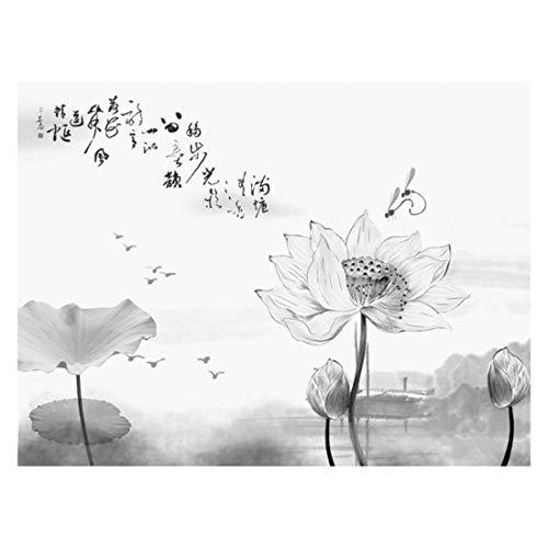 Chinesische Art Tuschemalerei einfache SchlaFreihand Moderne Moderne abstrakte Tapete der chinesischen Arttintenmalereifzimmer Wandtapete