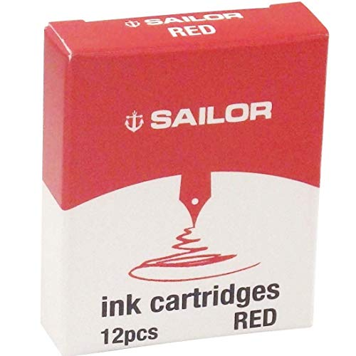 Sailor de tinta cartucho de bolígrafo de tinta de rojo [2 cajas] 13-0402-130