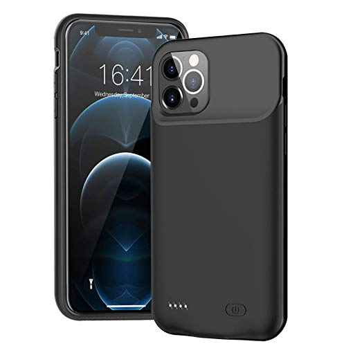 Battery Case for iPhone 12 Pro Max, Upgraded 7000mAh Ultra Slim Portable Charger Case Rechargeable Battery Pack Compatible with iPhone 12 Pro Max (6.7 inch) Charging Case-Black