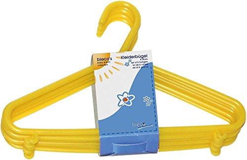 Kinder Kleiderbügel aus Kunststoff - 32er Set, Farbe:gelb