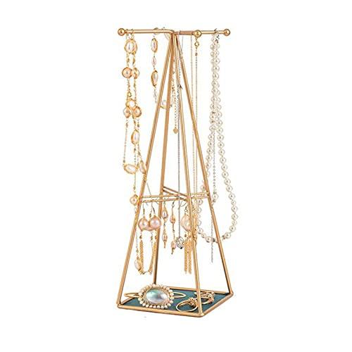 Asequibles Organizadores de Joyería Colgantes y Almacenamiento Pirámide Soporte de Joyas Collar de Perlas de Metal Precioso Pulsera Pendientes de Exhibición de Actividad