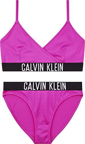Calvin Klein Crossover Triangle Bikini Set Copricostume, Estate Fucsia, 14-16 Anni Bambina