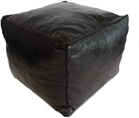 Moroccan Direct store Craft House Ottoman Pou Premium OFFicial mail order Pouf Leather