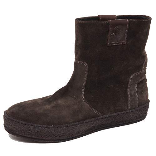 Moncler F1154 Stivaletto Uomo Green/Brown Scarpe Suede Boot Shoe Man [44]