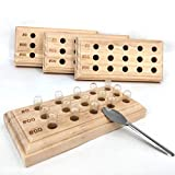 Capsule Holder Size 0 00 Wooden Capsule Holder with 15 Holes Capsule Filler Filling Tray Stand