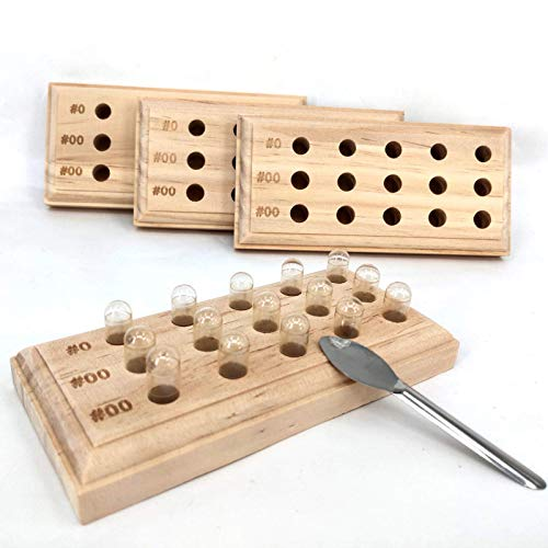 Capsule Holder Size 0 00 Wooden Capsule Holder with 15