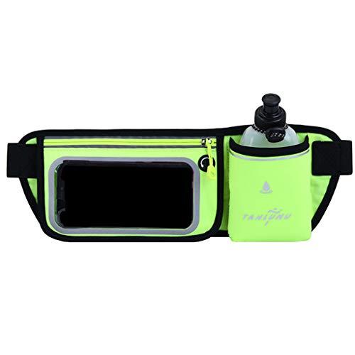 Zrshygs - Cinturón de bolsillo deportivo con pantalla táctil para botella de agua y senderismo