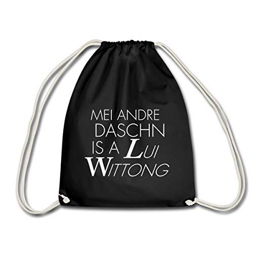 Spreadshirt Lui Wittong Daschn Bayrisch Turnbeutel, Schwarz