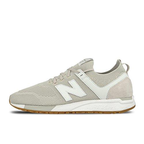 New Balance Unisex-Erwachsene MRL247-DR-D Sneaker, Grau (hellgrau/weiß hellgrau/weiß), 46.5 EU