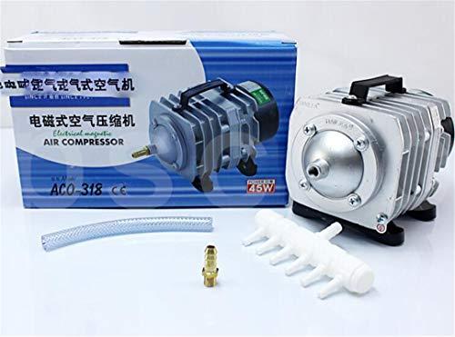 YLYBDDD 45L/Min 55L/Min 70L/Min HAILEA Electromagnetic Air Compressor Fish Tank Oxygen Air Pump Hydroponics 6 Way Air Aerator Pump HAILEA ACO-208 US Adapter Plug