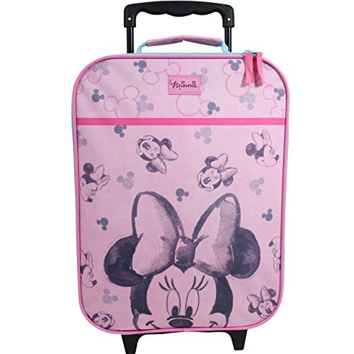 Vadobag Disney Minnie Mouse Koffer Trolley Kinderkoffer Trolly Handgepäck Kinder Mädchen