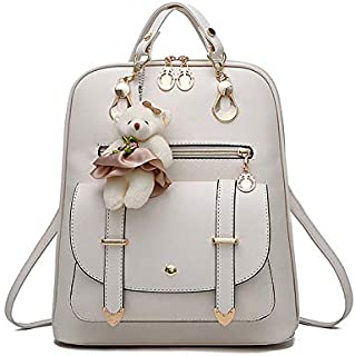 Women's Backpack Purse Pu Leather Ladies Casual Shoulder Bag School Bag for Girls