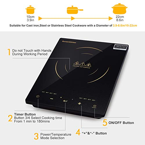 BonsenKitchen Portable Induction Cooktop