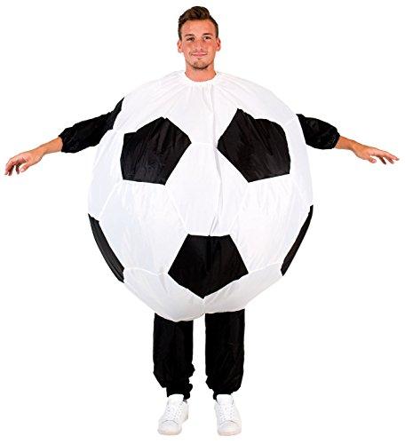 Inflatable Soccer Ball Chub Suit Costume (Teen) Black/White