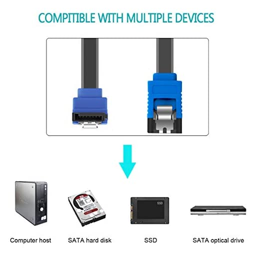 BENFEI Cable SATA III,3 Unidades, 6 Gbps, ángulo Recto de 90 Grados, con Cierre de Cierre, 45,72 cm, para Disco Duro… 5