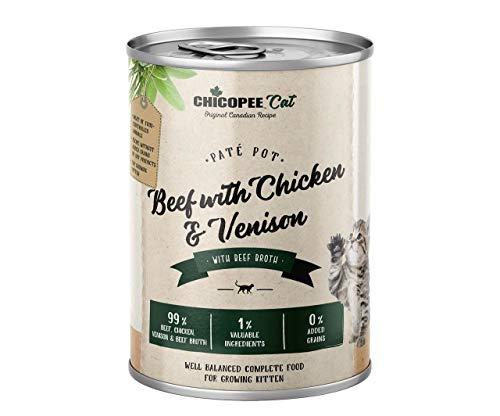 Chicopee Gatito Paté de Carne de res, de Pollo, de Ternera, de Estaño Para Gatitos 400g Nueva Chicopee, Conservas de Gatos, Noticias