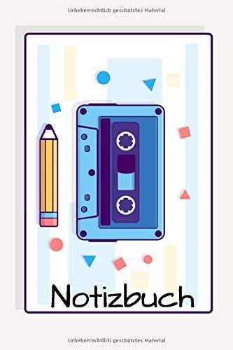 Notizbuch: Notizbuch mit 120 gepunkteten Seiten (dot grid) und schönem Kasetten Bleistift Cover