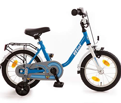 Kinderfahrrad 14 Zoll mit Rücktrittbremse und Stützrädern Fahrrad für Kinder Jungen Mädchen Kinderrad Blau