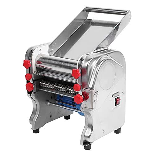 Máquina de Hacer Fideos eléctricos de Acero Inoxidable para el Restaurante de la Cocina casera Hotel, máquina de Prensa de Pasta Comercial Máquina de Corte de Fideos 220 V, con Fondo Antideslizante