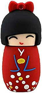 4GB USB 2.0 Flash Drives Cute Red Japanese Doll USB Flash Drive Gift Cartoon USB 2.0 Memory Stick