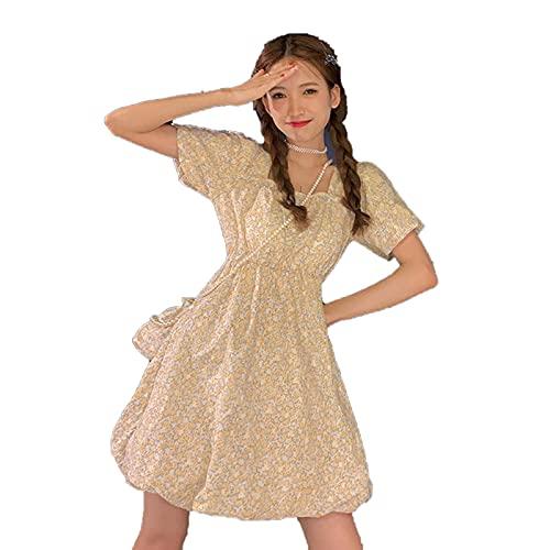DRESSES Las mujeres A-Line Preppy Estilo Dulce Niñas Moda Popular Floral Suelto Partido Mujer Todo Partido Chic Vintage Streetwear Encantador