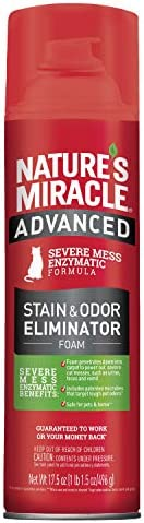 Nature s Miracle Advanced Stain and Odor Eliminator Foam Cat 17 5 Ounces for Severe Cat Messes product image