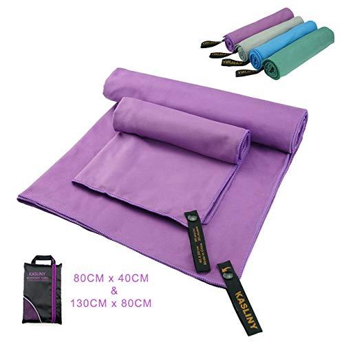 Turnhalle Hugh Sports Anti-Rutsch-Yoga-Handtuch ideal f/ür Sport mit wasserdichter Tasche Fitness