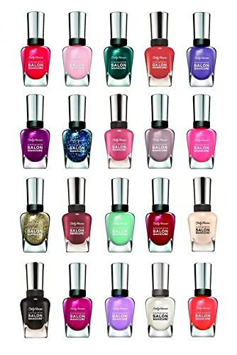 Sally Hansen Salon Manicure Finger Nail Polish Color Lacquer All Different Colors No Repeats Set of 10