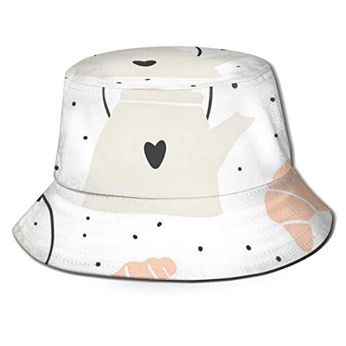 zhouyongz Summer and Winter Outdoor Hunting and Fishing Picnic Sun Cap, Neutral Barrel Cover,Kettle, Croissant and Mushrooms