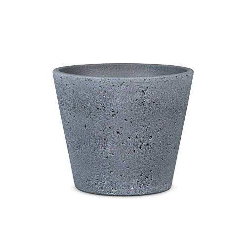 Vintage Kalksteen Keramische Bloempot Milk Tea Gray Gallon Verdikte Ceramic Bloempot Decoration Flower Green Plant Desktop Indoor Outdoor Dichte Decoratieve Flower Pot zhihao