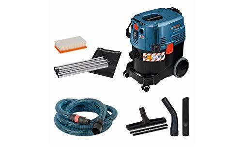 Bosch Professional GAS 35 M AFC - Aspirador seco/ húmedo (1200W, 254 mbar, depósito 35l, clase polvo L, manguera antiestática 5m)