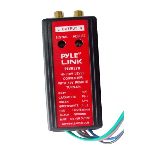 Pyle 12V 2-Kanal High zu Low Level Konverter mit einschaltzeiten Fernbedienung