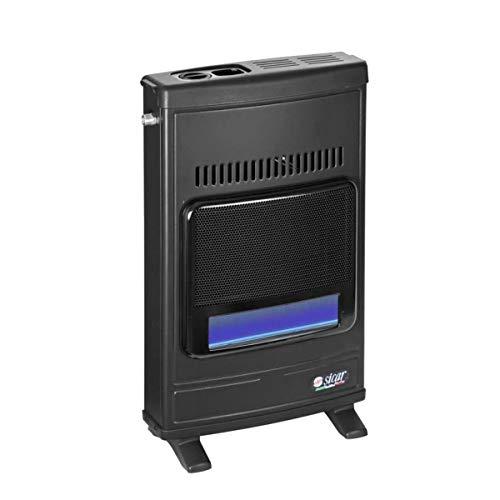 Stufa a gas Metano parete Sicar Eco45 Fiamma protetta a muro Doppia Sicurezza 'Stop Gas' caldo in casa Accensione Piezo elettrico portatile
