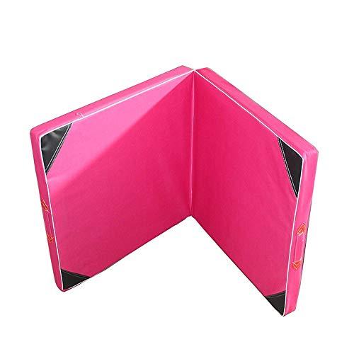 Ouuager-Home Colchonetas de Gimnasia Doblar colchoneta Plegable Gimnasia Gimnasio y el hogar de protección de Suelo Colchoneta de Ejercicio (Color : Pink, Size : 1.2 * 60.5cm)