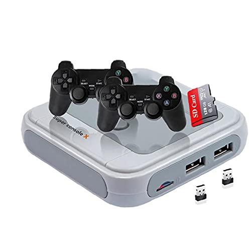 FeelMeet Consola de Videojuegos de la Consola de Juegos Retro TV Mini Juego Infantil Consola de Juego clásico de 128G Gris