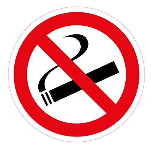 """10 pcs adesivi, diametro 5 cm """"vietato fumare"""", autoadesivo, antigraffio e resistente agli agenti atmosferici"""